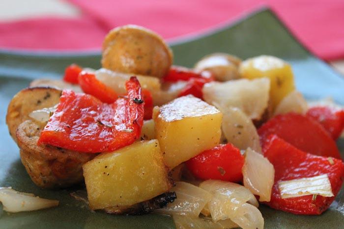 Krompir sa povrćem u rerni