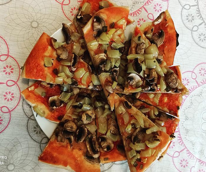Posna pizza na vodi